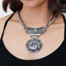цена на 2016 Statement Black Store Pendant Collier Femme Collar Mujer Boho Bohemian Colar Vintage Necklace Women Accessories Jewelry