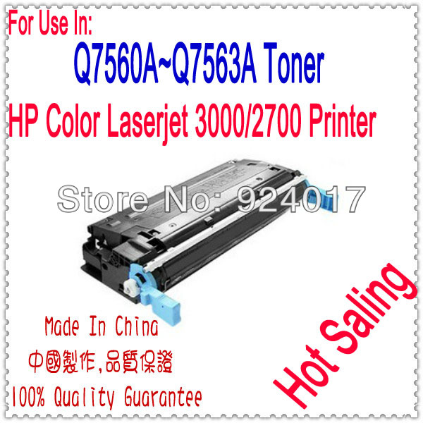 Use For HP 2700 3000 Toner Cartridge,Use For HP Q7560A Q7561A Q7562A Q7563A Toner,Color Laserjet 3000 2700 Toner For HP Printer use for hp 4730 toner cartridge toner cartridge for hp color laserjet 4730 printer use for hp toner q6460a q6461a q6462a q6463a