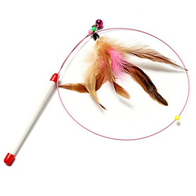Cat Feather Teaser Wand Toy