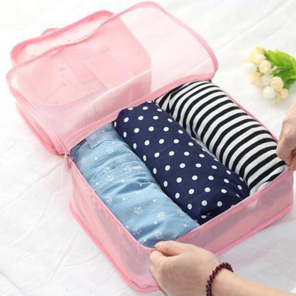 LDAJMW Hot 6PCS Set Travel Cases Clothes Tidy Storage Bag Box Luggage Suitcase Pouch Zip Bra Cosmetics Underwear Organizer in Storage Bags from Home Garden