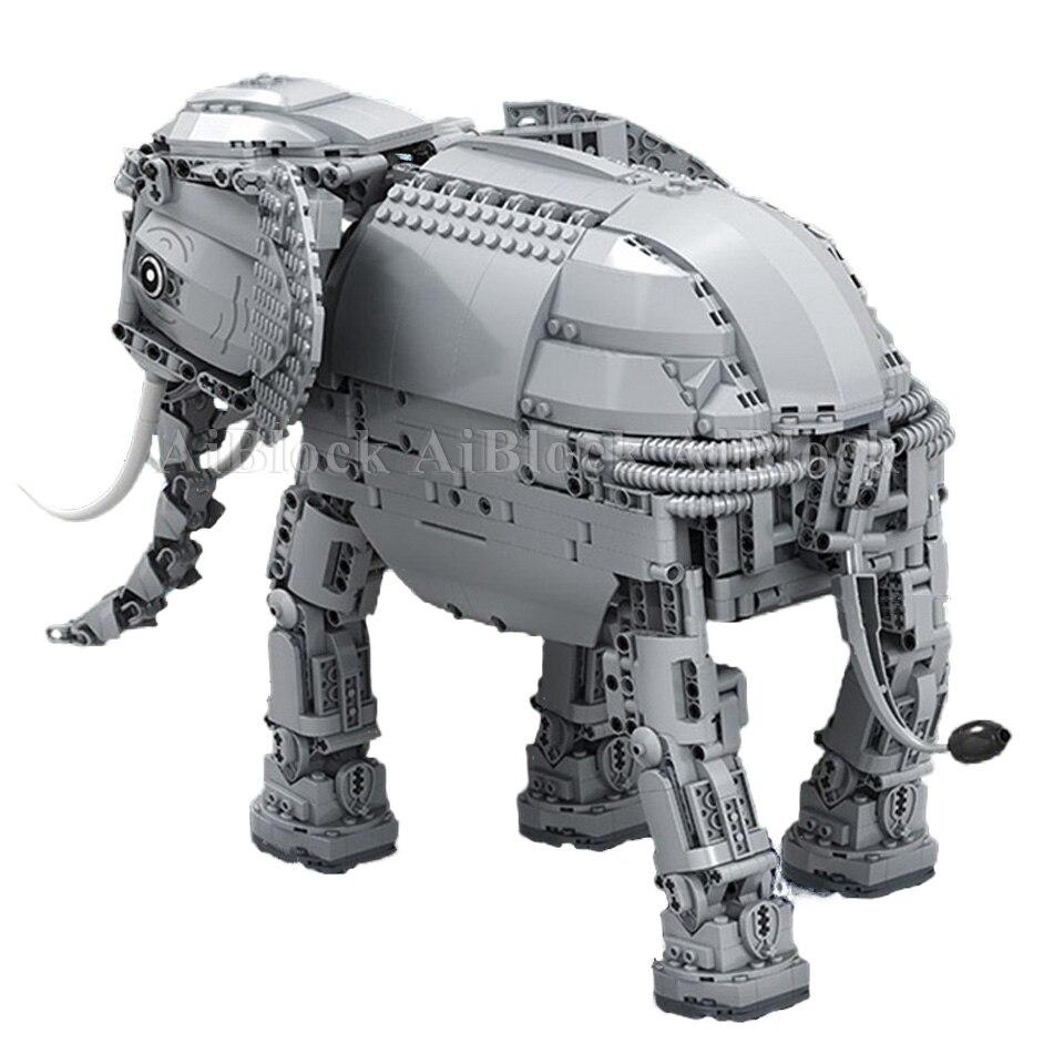 Oyuncaklar ve Hobi Ürünleri'ten Bloklar'de Stokta Motorlu Fil Tuğla Ile Uyumlu Legoing Teknik Model Yapı Taşları Çocuk Doğum Günü Hediyeleri Uzaktan Kumandalı Oyuncaklar'da  Grup 2