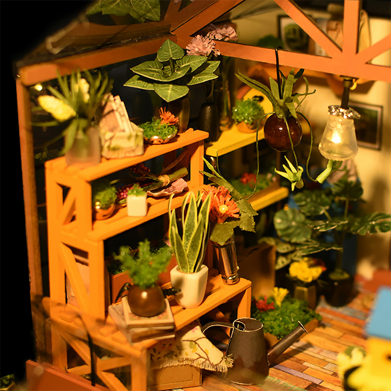 Doll-House-Miniature-DIY-Dollhouse-With-Furnitures-Wooden-House-Toys-For-Children-Kathys-Flower-House-Robotime-DG104-3