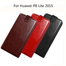 купить PU Leather Case For Huawei P8 Lite 2015 Phone Coque Vintage Flip Back Cover Wallet Card Slots Holder P8 Lite 2015 Coque дешево