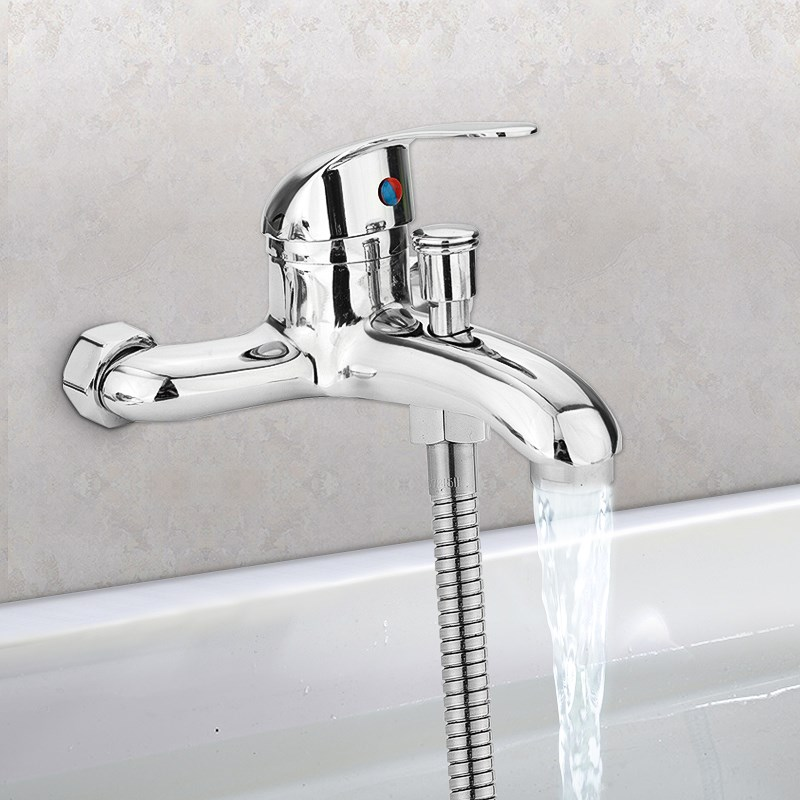 Basin Faucets Zinc Alloy Chrome Wall Mounted Hot Cold