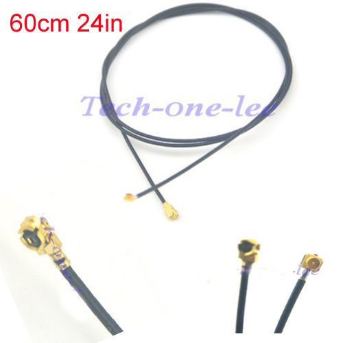 2 Piece U.FL IPX Male To U.fl / Ipx Female Terminal Block Conector Cable 1.13 Pigtail Cable 60cm Extension Jumper Cord
