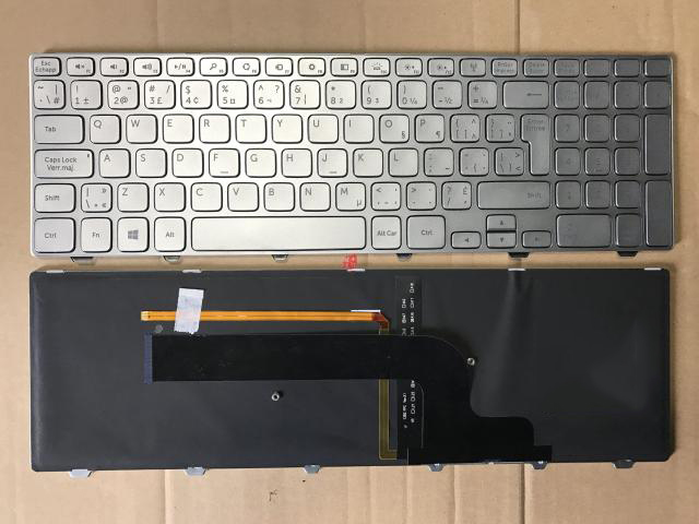 New keyboard for DELL INSPIRON 15 7537 15-7537 7000 P36F CANADIAN FRENCH/FRENCH/Deutsch German/HEBREW/HUNGARIAN/JAPANESE layout new laptop keyboard for dell studio 15 1535 1536 1537 0kr770 backlit french layout