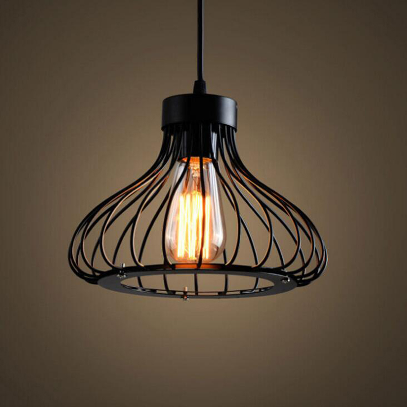 Modern minimalist personality creative iron chandelier restaurant cafe bar restaurant bar single industrial wind chandelier led