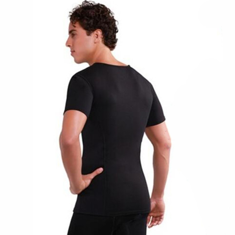 c9f8eb2875341 Hot Waist Trainer Body Shapers Men s Compression Slimming Shirts Neoprene  Absorbs Sweat Tees Sweat More Fat Burning Workout Tops-in Shapers from  Underwear ...