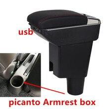 Для KIA morning picanto JA подлокотник коробка центральный магазин содержание коробка с подстаканником пепельница с интерфейсом USB