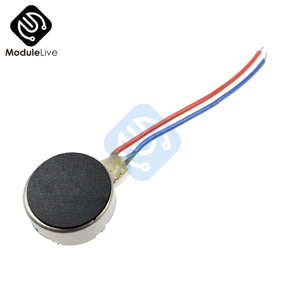 12000RPM Small Size DIY Kit 0834 Iron Coin Flat Vibrating Micro <font><b>Motor</b></font> <font><b>DC</b></font> <font><b>3V</b></font> 8mm 70mA Max For Pager and Cell Phone Mobile image