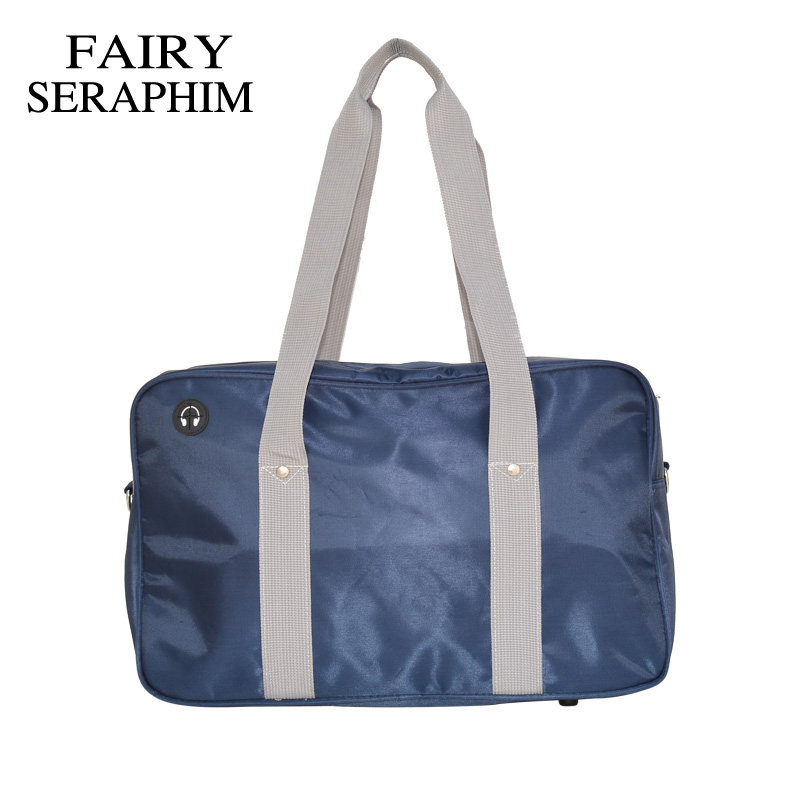FAIRY SERAPHIM Japanese School Handbags High College Students Uniform Bag Teenagers Shoulder Bags Polyester Long Strap Messenger powerpoint® 2007 just the stepstm for dummies®