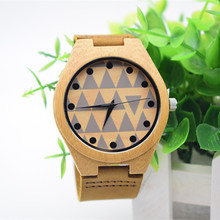 Round Quartz Leather Analog Resin Wooden Men's Watches With Beautiful Pictures For Husband's Gift Lover Watches Fashion&Casual цены онлайн