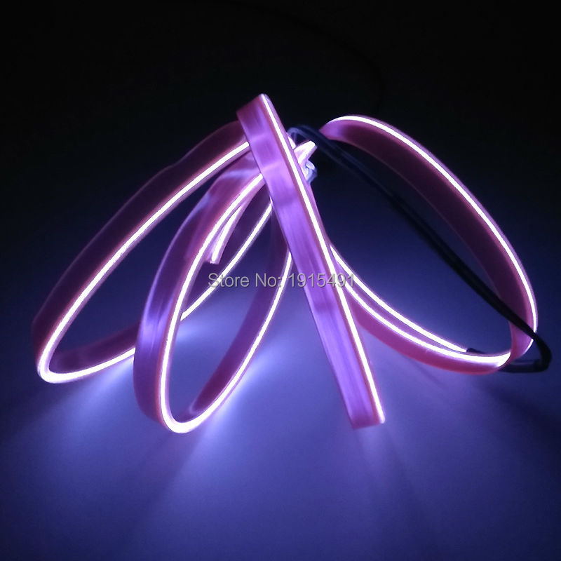 2019 New DC-12V Driver+2 Metres Flexible Novelty Light 10 Color Optional Trendy 2.3mm-Skirt EL Wire For Car Styling Decoration