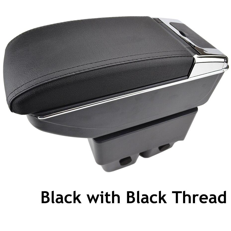 Doppio strato in pelle nera bracciolo per 2007-2013 SX4 centro console Storage box bracciolo