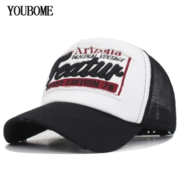 Gorra de béisbol de marca YOUBOME para mujer gorras Snapback sombreros para  hombres malla verano bordado 948eaa4ff28