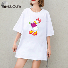 Summer Clothes Women Casual Daisy Donald Duck Mouse Cartoon Tops Tshirt Short Sleeve Tees Big Plus Size T Shirts