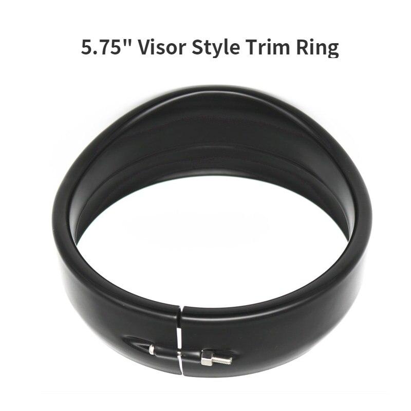 5.75Inch Visor Style LED Headlight Headlamp Trim Ring For Sportster Softail Touring Road King Motorbikes