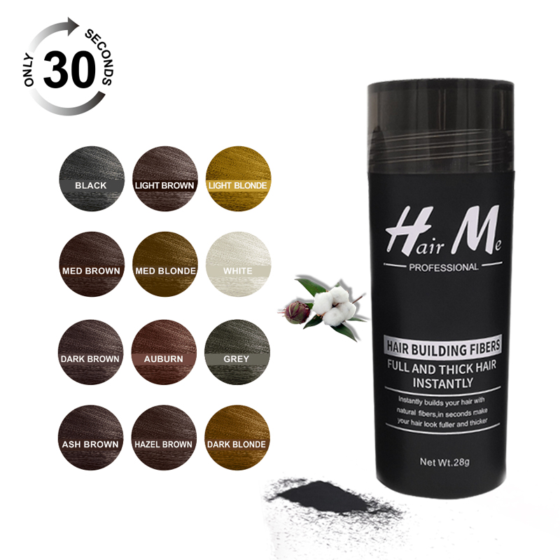 HairMe Hair Building Fibers Powder 28g To Fix With Hair Fibers On Your Hair Fibers Have 12 Colors Suitable For Lady And Men