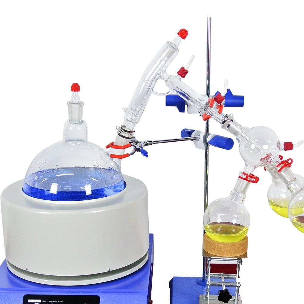 Купить с кэшбэком Lab Small Short Path Distillation Equipment 2L Short Path Distillation With Stirring Heating Mantle Include Cold trap