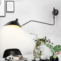 Industrial Vintage Black Retro Loft Wall Lamps French Designer Rotating Sconce Wall Lights For Home Interior Decor CE UL