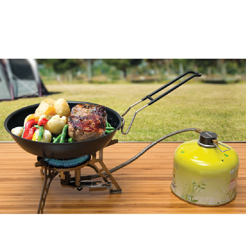 Magideal Frying Pan Outdoor Portable Camping Folding Pot Cookware Non-stick Pan 24cm For Camping Hiking Picnic Bbq Camping & Hiking Campcookingsupplies
