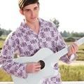 Masculino salão definir 100% algodão sleepwear de manga comprida primavera nova chegada 0518