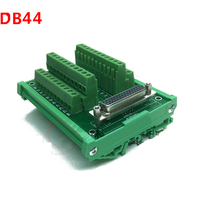 DB44 male / female socket terminal block breakout board adapter cable wiring terminal DIN Rail Type