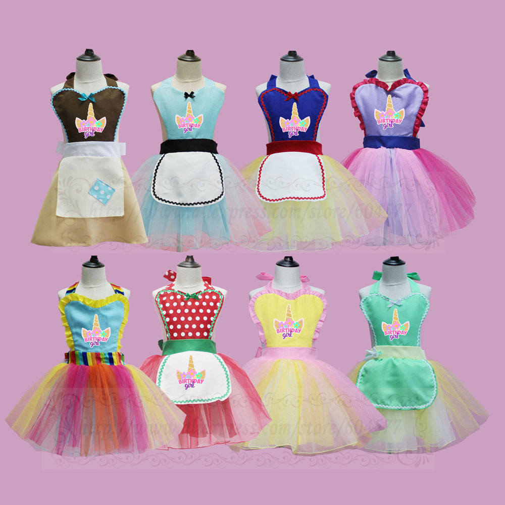 Birthday Girl Princess Costume Tutu Apron Dress for Girls birthday party wedding special occasion party favor