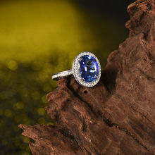 Luxury 18K White Gold Tanzanite Ring Oval 7x9mm For Wife Gift Good Quality Gemstone Fine Jewelry Luxury Diamond YWR0054