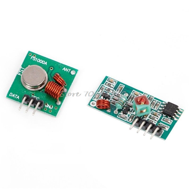 RF Wireless Transmitter Module 433Mhz W/ Receiver Kit For Remote Control Drop Shipping drf4431f13 433mhz 13dbm rf wireless transceiver module