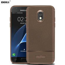 dfd734eedde IDOOLS Case for Samsung Galaxy J7 2018 EU Version Soft Carbon Fiber TPU  Shockproof Armor Coque