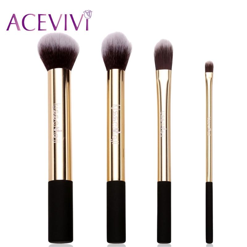 ACEVIVI 4PCS Cosmetic Blush Face Powder Foundation Blending Makeup Brush Set Cosmetic Make up Brushes Beauty Tool Hight Quality acevivi 4pcs sponge