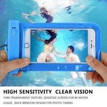PVC Waterproof Phone Bag Underwater Luminous back cover For Huawei P7 P9 P8 lite MATE7 8 S horo 7 4 5 6 5X 4A Y625 Y6 Y5 II ><