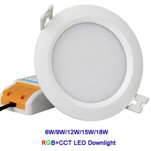 Image 2 - Miboxer 6W/9W/12W/15W/18W RGB+CCT led Downlight Dimmable Ceiling AC110V 220V FUT062/FUT063/FUT066/FUT068/FUT069/FUT089