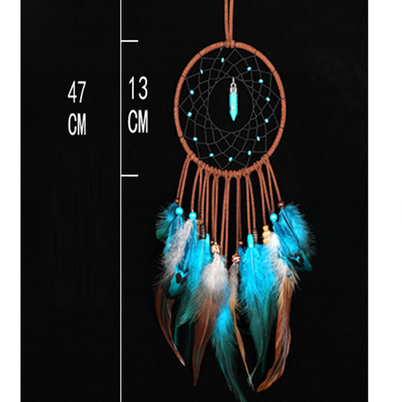 Indian inheritors of the dream catcher hanging ornaments fengling fill dream net birthday gift to send girlfriend have a special in Wind Chimes Hanging Decorations from Home Garden