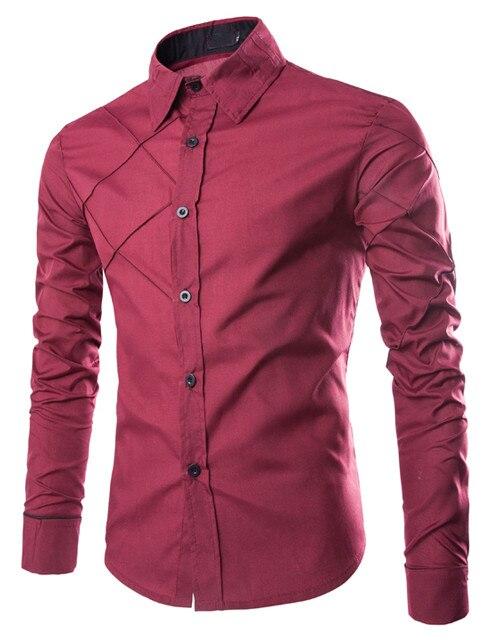2018 Neu Tuxedo Shirts Männer Lange Hülsen-beiläufige Plaid Shirt Mode Marke Männliche Kleidung Slim Fit Herren Shirts Camisa Masculina Um Zu Helfen, Fettiges Essen Zu Verdauen