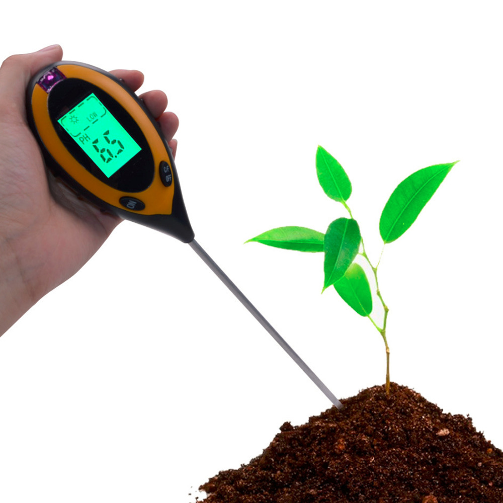 Factory Price Professional 4 In1 LCD Temperature Sunlight Moisture PH Garden Soil Tester PH Meters studies on grafting in some vegetable crops