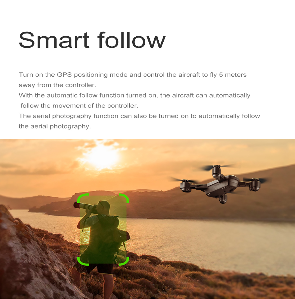 S GPS FOLLOW ME FPV RC Drone With Video 1080P HD Camera Photos Features Double Quadcopter 5MP pixel Foldable toy drone 17