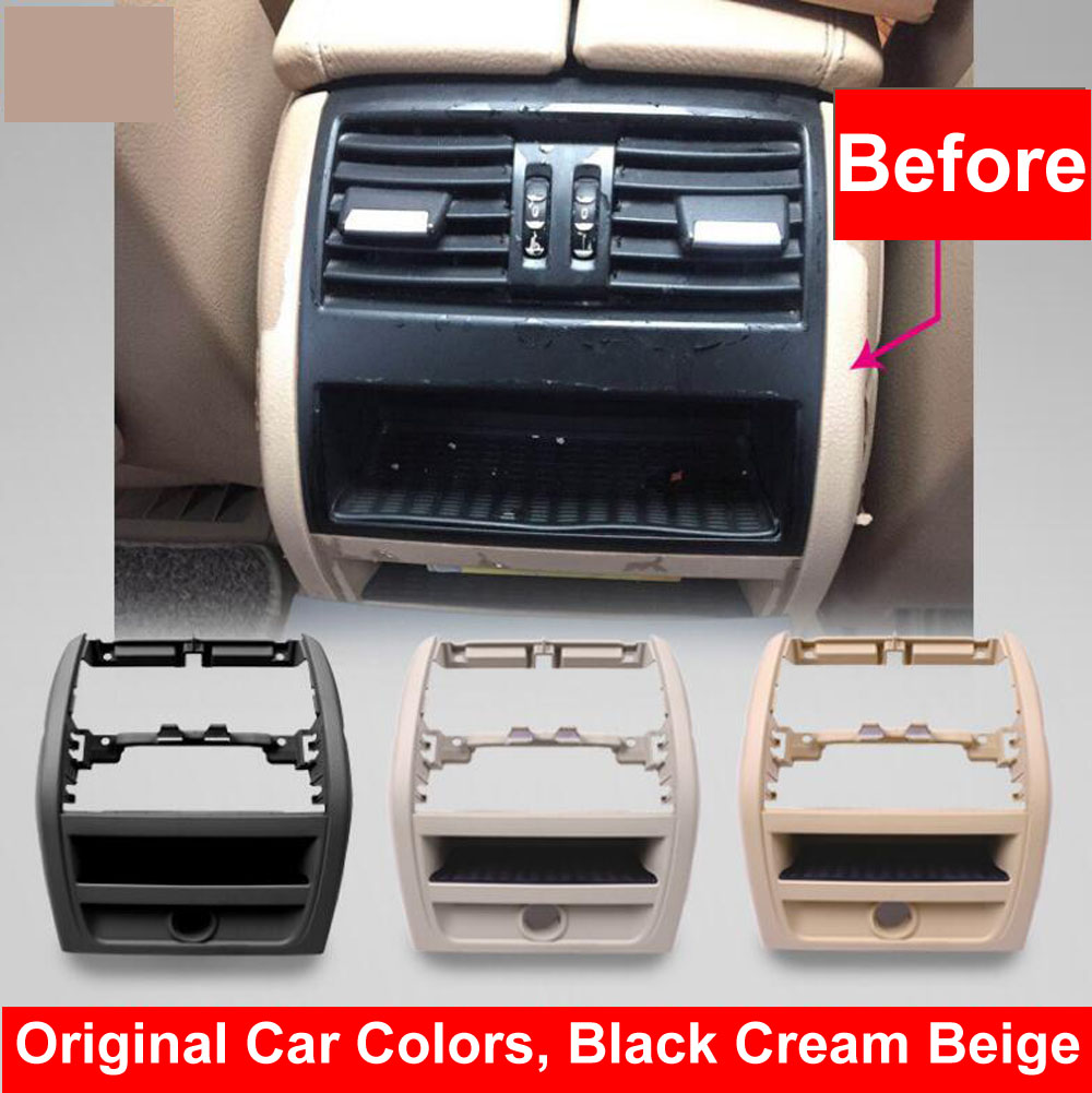 LHD RHD Rear Air Conditioning Vent Grille Outlet Frame Panel Plate For BMW 5 Series F10 F18 520 525 Beige Black Cream Styling in Air conditioning Installation from Automobiles Motorcycles