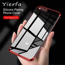 Xiaomi Mi 6 Case Cover Transparent Luxury Silm Ultra-thin Silicone Plating TPU Back For Mi6 Phone Coque