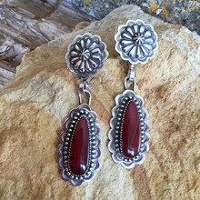 Vintage nueva moda pendientes de gota grande de resina para mujeres bohemio redondo geométrico colgante pendiente Metal para fiestas Brincos joyería Z3J671