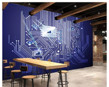 beibehang Custom advanced personality wallpaper 3D stereo modern technology circuit board tooling background wall 3d
