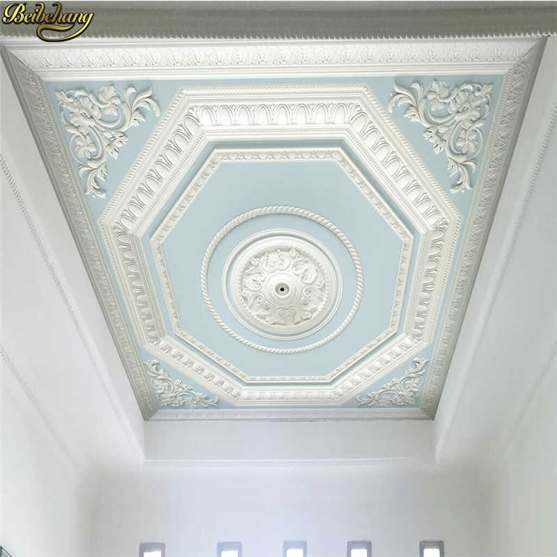 beibehang custom Plaster relief carved ceiling background wallpapers for living room decoration 3D mural wallpaper for walls 3 d