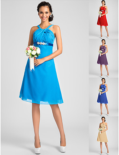 Vestidos De Festa Bridesmaid Dresses 2016 Ocean Blue Royal Ruby Champagne