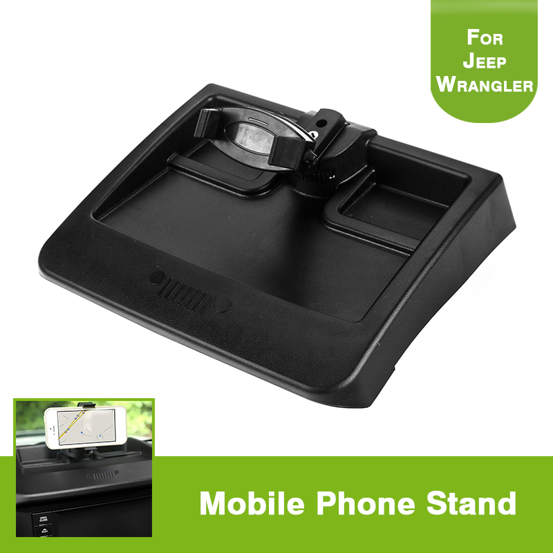 Dash Phone Mount Holder Cradle Bracket Storage Box Organizer For Wrangler 2008 2011