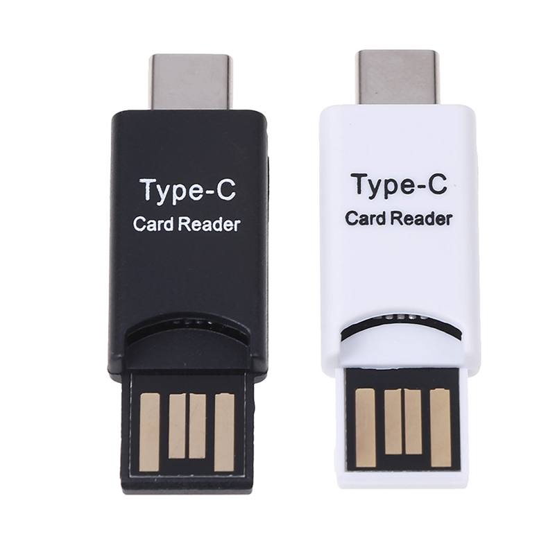 Type-C Card Reader USB 3.1 USB-C / USB 2.0 OTG External Slim Portable Type C Card Reader