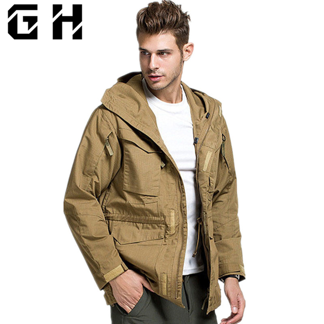 04e60ab249f M65 UK US Army Clothes Casual Tactical Windbreaker Men Winter Autumn Thermal  Flight Pilot Coat Male Hoodie Military Field Jacket