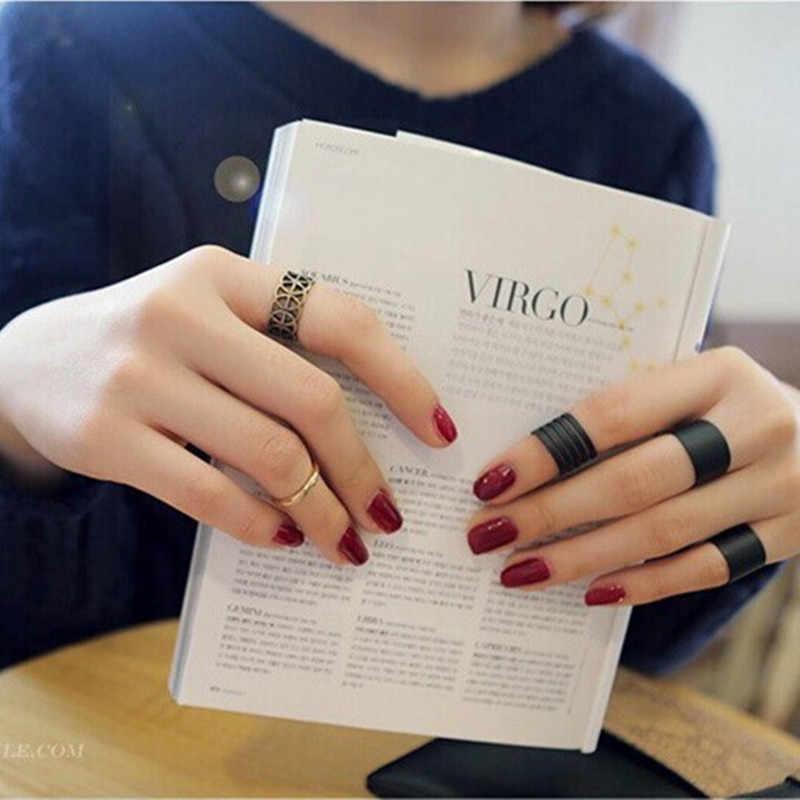 Women's Fashion Cool Sample Elegance Scrub Three-Piece Suit Black Plain Ring CRD85