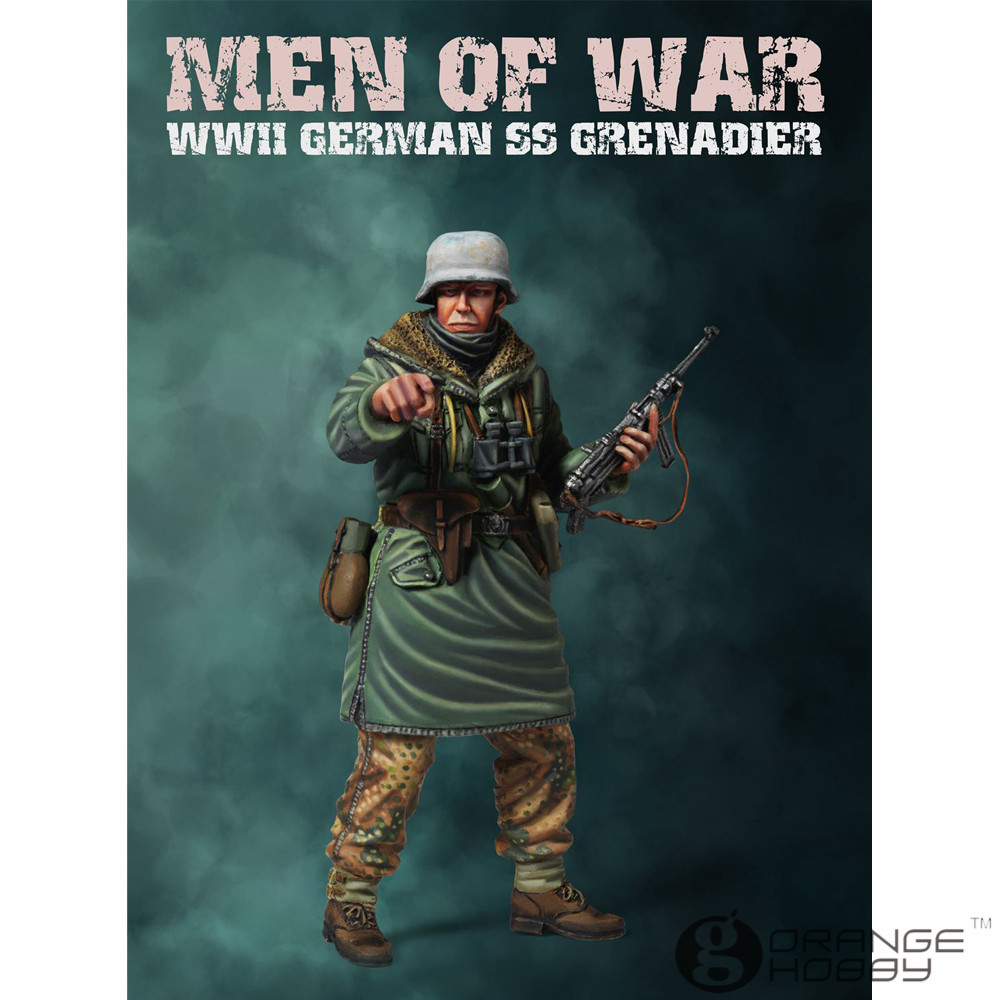 OHS MOB WF002 <font><b>1</b></font>/<font><b>35</b></font> WWII <font><b>German</b></font> SS Type 2 Grenadier Assembly Military <font><b>Resin</b></font> Miniatures <font><b>Model</b></font> Building Kits oh image