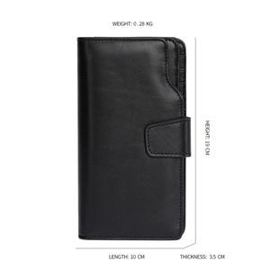 Image 5 - JOYIR Luxury Brand Business Men Wallets Genuine Leather Man Handy Bag High Capacity Long Wallet for Mens 2018 New Clutch Wallets